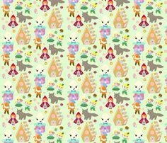 Kawaii Storybook Fabric fabric by fantastictoys on Spoonflower - custom fabric