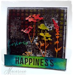Chasing happiness with colors and textures! Simon Says Stamp Monday Challenge blog.