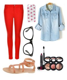 """""""untitled #5"""" by lavenderlynne on Polyvore featuring J Brand, Laura Geller, Valia Gabriel and Boohoo"""