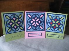 """Quilted"" All Occasion Cards - love these."