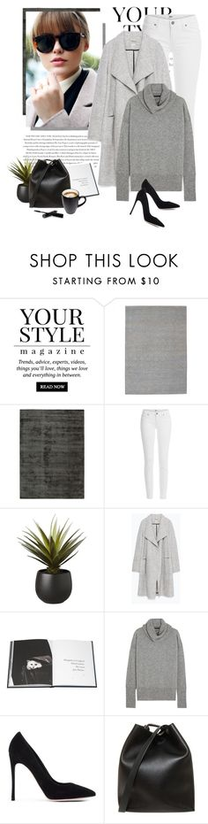 """Happy Sunday my sweet friends♡"" by yexyka ❤ liked on Polyvore featuring Pussycat, Calvin Klein, Envi, Paige Denim, CB2, Zara, Thames & Hudson, The Row, Gianvito Rossi and 3.1 Phillip Lim"
