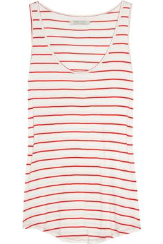 linwood striped coton tank.