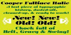 Cooper Fullface Italic. Display Fonts. $20.00