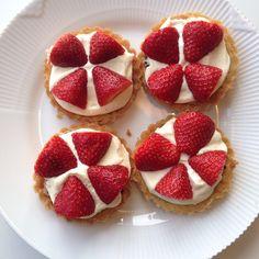 Jordbærtærter (low fodmap venlig)
