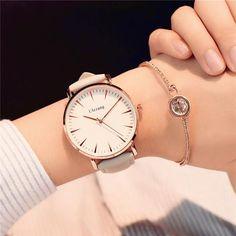 Exquisite simple style women watches luxury fashion quartz wristwatches drop shipping ulzzang brand woman clock montre femme Band ResistantMovement:QuartzBand Material T Stylish Watches, Casual Watches, Luxury Watches, Cool Watches, Watches For Men, Cheap Watches, Female Watches, Wrist Watches, Ulzzang
