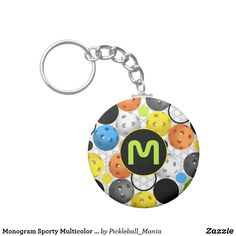 Monogram Sporty Multicolor Pickleball Keychain
