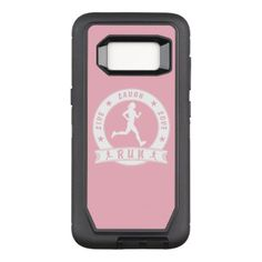 Live Laugh Love RUN female circle (wht) OtterBox Defender Samsung Galaxy S8 Case - fun gifts funny diy customize personal