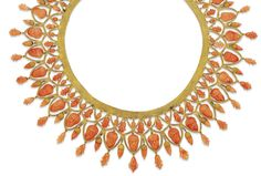 A 19th century archaeological revival coral and gold necklace, circa 1860.