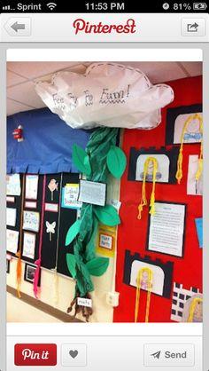 Jack and The bean Stalk classroom idea