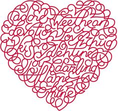 <3 A wordy Valentine! #Valentines
