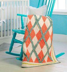 .Argyle pattern quilt.