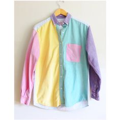 Vintage Shirt Color Block Pastel — This is what I want and need in life