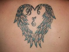 angel wing tattoos | angel wings for my kids tattoo 30 Awe Inspiring Heart With Wings ...