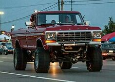 Husband had a candy apple red '79 Ford F150 when we were dating & then married w little kids