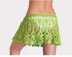 Crochet beach skirt PATTERN PDF crochet cover up by katrinshine