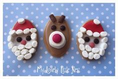 Christmas Biscuits - Santa & Rudolph no bake biscuits, lots of fun