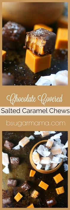 Enjoy these Chocolate Covered Salted Caramels Chews that are awesome to give as gifts! These Soft Caramel Chews are easy and does not require a candy thermometer.