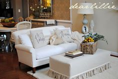 Tutorial for how-to slipcover your ottoman