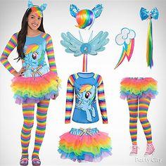 Girls' Rainbow Dash Costume Idea