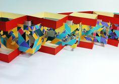 Interwoven Slit Concertina Book Design by Ribon Ma, via Behance