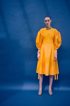 You're going to want all of the super-bright, pouf-sleeve tops and party dresses in Rejina Pyo's Spring 2017 collection. Read our interview with the London designer here.