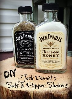 Father's Day DIY: Jack Daniel's Salt & Pepper Shakers