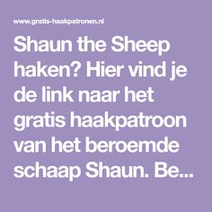 Shaun the Sheep - Amigurimi - Gratis haakpatronen