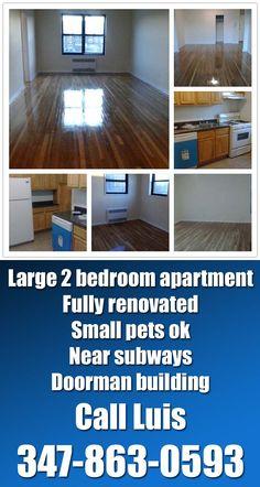 large 2 bedroom apartment in doorman building next to subways located in rego