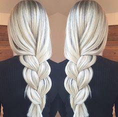 Rooty White Blonde using Olaplex.