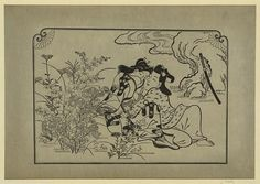 Любовники на осеннем лугу. Хисикава Моронобу, 1680 год