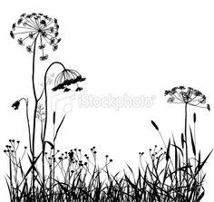 Wild Plants Silhouette | Stock Illustration | iStock