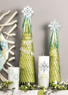 Create these lovely christmas trees using the Tree Punch.