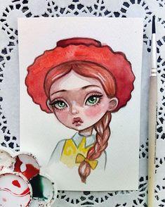 Toy Story. Jessie. Watercolor postcard is available in my Etsy Link in profile #doodletimewithkaroline #illustration #jessie #toystory #disneyart #watercolorart #instaart #postcard #etsy