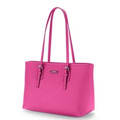 "HPNWT Danny Shopper tote Gorgeous pink with silver tone hardware.  Drop down shoulder strap length is 10 1/2"".  Magnetic snap closure, exterior slip pocket, exterior features 3 slip pockets, one center zipper compartment, and a zipper pocket.  trades/PP.  REASONABLE OFFERS only. Dana Buchman Bags Totes"