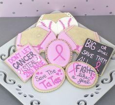 .:* L - Beautiful Breast Cancer Awareness cookies [Baking In Heels: Breast Cancer cookies]