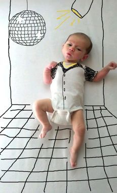 World's Most Creative Mom! Check out the awesome pics a new mama took of her adorable baby! http://thestir.cafemom.com/baby/162479/mom_takes_baby_pictures_to?utm_medium=sm&utm_source=pinterest&utm_content=thestir