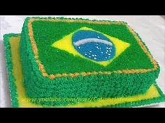 Bolo do Brasil. Bolo decorado fácil.