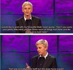 Haha Ellen!