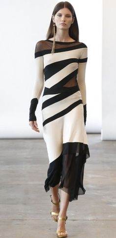 Black and white  Donna Karan dress