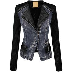 MBJ Womens Faux Leather Zip Up Moto Jacket with Hoodie ($15) ❤ liked on Polyvore featuring outerwear, jackets, fake leather moto jacket, motorcycle jacket, vegan leather jacket, faux leather biker jacket and vegan jackets