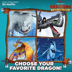 It's hard to pick just one but we want to know, which of these dragons from season 1 of Dragons: Race To The Edge is your favorite?