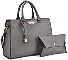 c9d2939c9 Women's Fashion Handbags Tote Purses Shoulder Bags Top Handle Satchel Purse  Set 2pcs