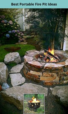 Cheap Fire Pit, Easy Fire Pit, Cool Fire Pits, Backyard Seating, Fire Pit Backyard, Backyard Landscaping, Backyard Ideas, Landscaping Design, Fire Pit Landscaping Ideas