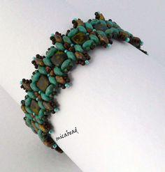 Tile bead, super duo bracelet
