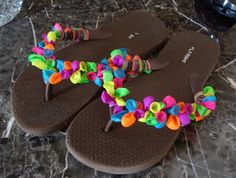 Water balloon flip flops - How Fun for kids ministry summer party events!