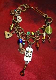 Bijoux Bohemia Charm Bracelet - Rich Jeweled Eclectica (7.6 inches)