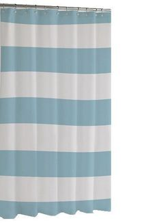 Hampton Stripe Shower Curtain | Blue
