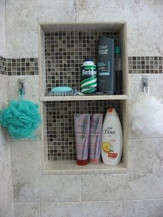 his and her shower storage and hooks by geneva