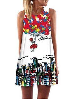 Oferta: 1.3€. Comprar Ofertas de Minetom Mujer Mini Vestido Moda Atractiva Dress Cuello Redondo Sin Tirantes Dress Guay Verano Sin Mangas Beachwear Playa Chal barato. ¡Mira las ofertas!