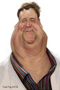John Goodman by Ernesto Priego (DV film & Chương trình TV Cartoon Faces, Funny Faces, Cartoon Art, Caricature Artist, Caricature Drawing, Funny Caricatures, Celebrity Caricatures, Famous Cartoons, Wow Art